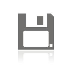 Icono diskette FB reflejo