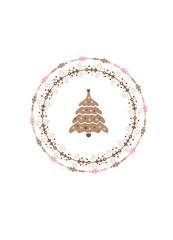 Weihnachtsbaum im Kranz