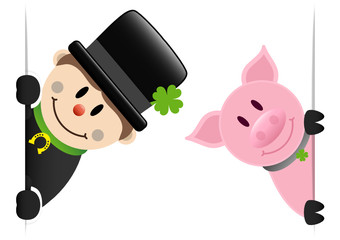 Chimney Sweeper & Pig Banner