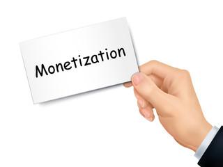 monetization card in hand