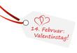 Anhänger mit Text zum Valentinstag