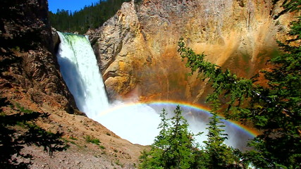 Rainbow at Yellowstone Lower Falls