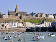 Leinwanddruck Bild - Port of Granville in France
