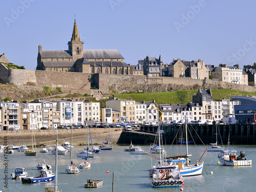 Leinwanddruck Bild Port of Granville in France