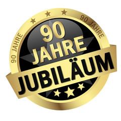 """Button mit Banner """" 90 JAHRE JUBILÄUM """""""