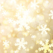 Abstract blurred lights and snowflakes background. Vector illust