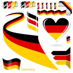 Set of Vector Flag of Germany
