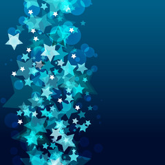 Shiny background with abstract glowing stars. Vector holiday bac