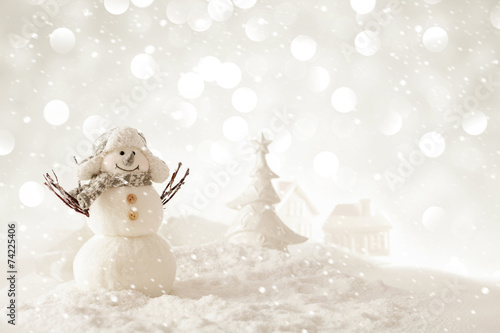 christmas snowman - 74225406