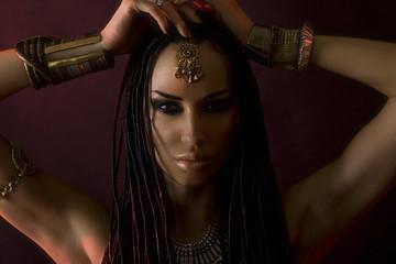Fashion Beauty and stylish hair. Make-up. Beautiful Sexy Womans