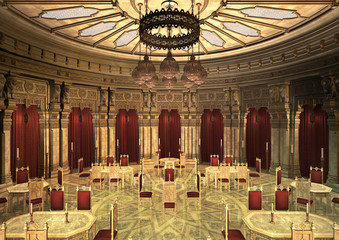 3d Illustration Oriental Palace