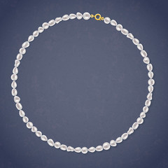Freshwater Pearl Round Necklace.