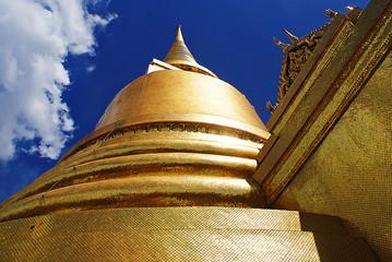 Golden Buddhist Stupa in Bangkok