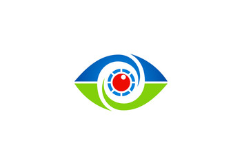 eye vision optic symbol vector logo