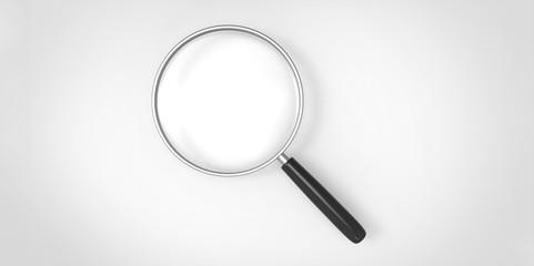 Magnifier on a plain background