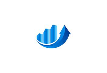 finance growth arrow logo vector