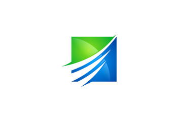 finance growth abstract logo