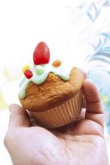 Ostern Muffin mit Zuckerguss