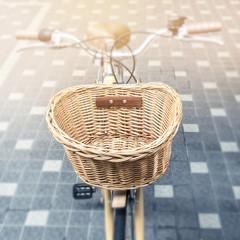 Bicycle basket Vintage background