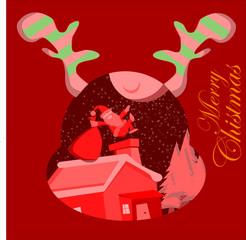 Magical Santa Jump for giving a christmast present
