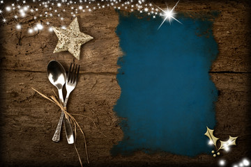 Christmas menu background