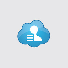 Blue cloud profile application icon