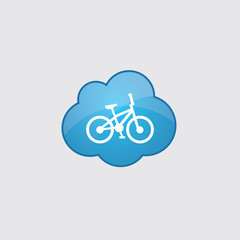 Blue cloud bike icon