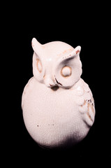 Clay Handmade Statue of a Owl