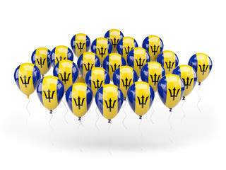 Balloons with flag of barbados
