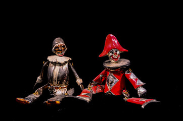 Metal Handmade Statue of a Carnival Puppet