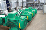 Group of four powerful pumps