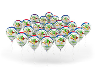 Balloons with flag of belize