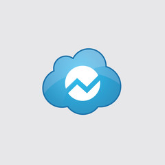 Blue cloud diagram icon.