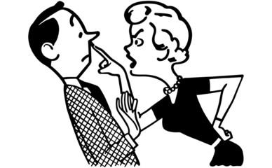 Woman Scolding Husband