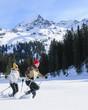 Wettrennen mit Schneeschuhen
