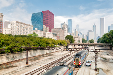 Chicago skyline urban view, Illinois