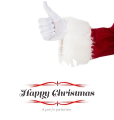 Composite image of positive santa claus with thumbs up