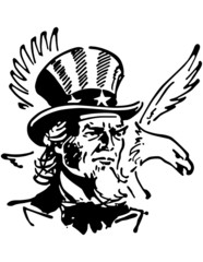 Uncle Sam With Eagle