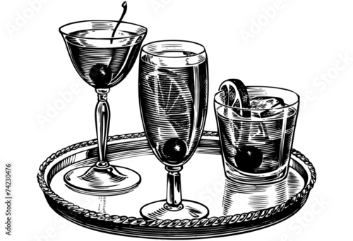 Tray Of Cocktails - 74230476