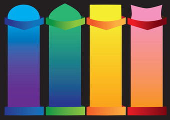 Set of 4 Shapes for Layout Design Template Vector Illustration
