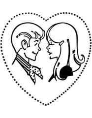 Teen Couple In Love Heart