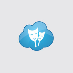 Blue cloud theater icon.