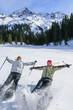Gaudi beim Schneeschuh-Wandern