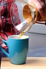 coffe preparing with chemex
