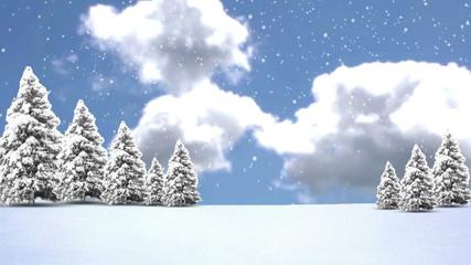 Christmas Trees and Snow