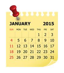 2015 Calendar- January
