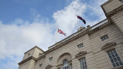 flags at palace in london