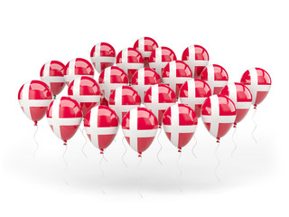 Balloons with flag of denmark