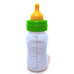 Baby Bottle 3d illustration