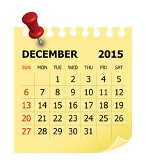 2015 Calendar- December